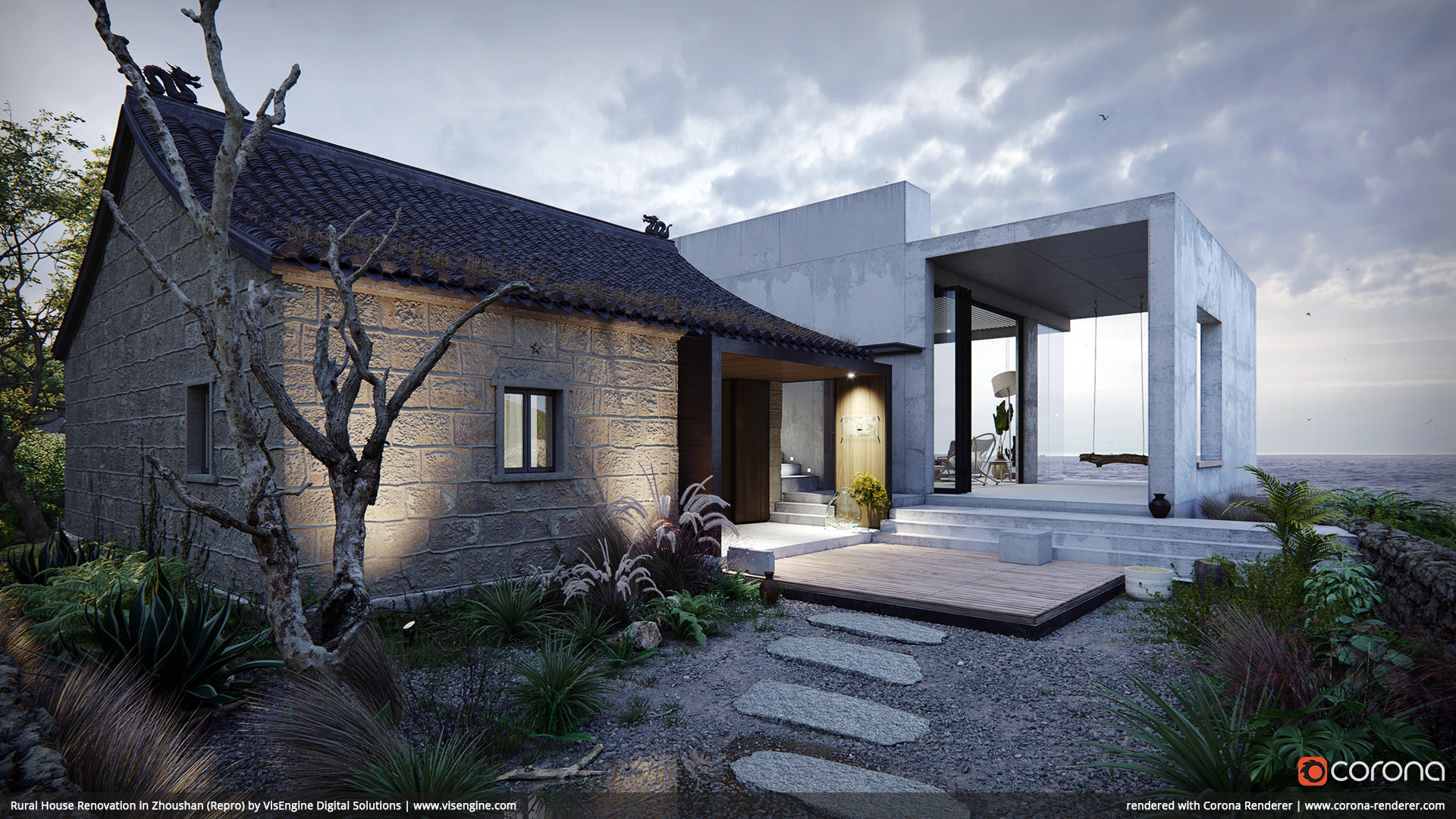 Rural House Renovation in Zhoushan (Repro) by VisEngine Digital Solutions