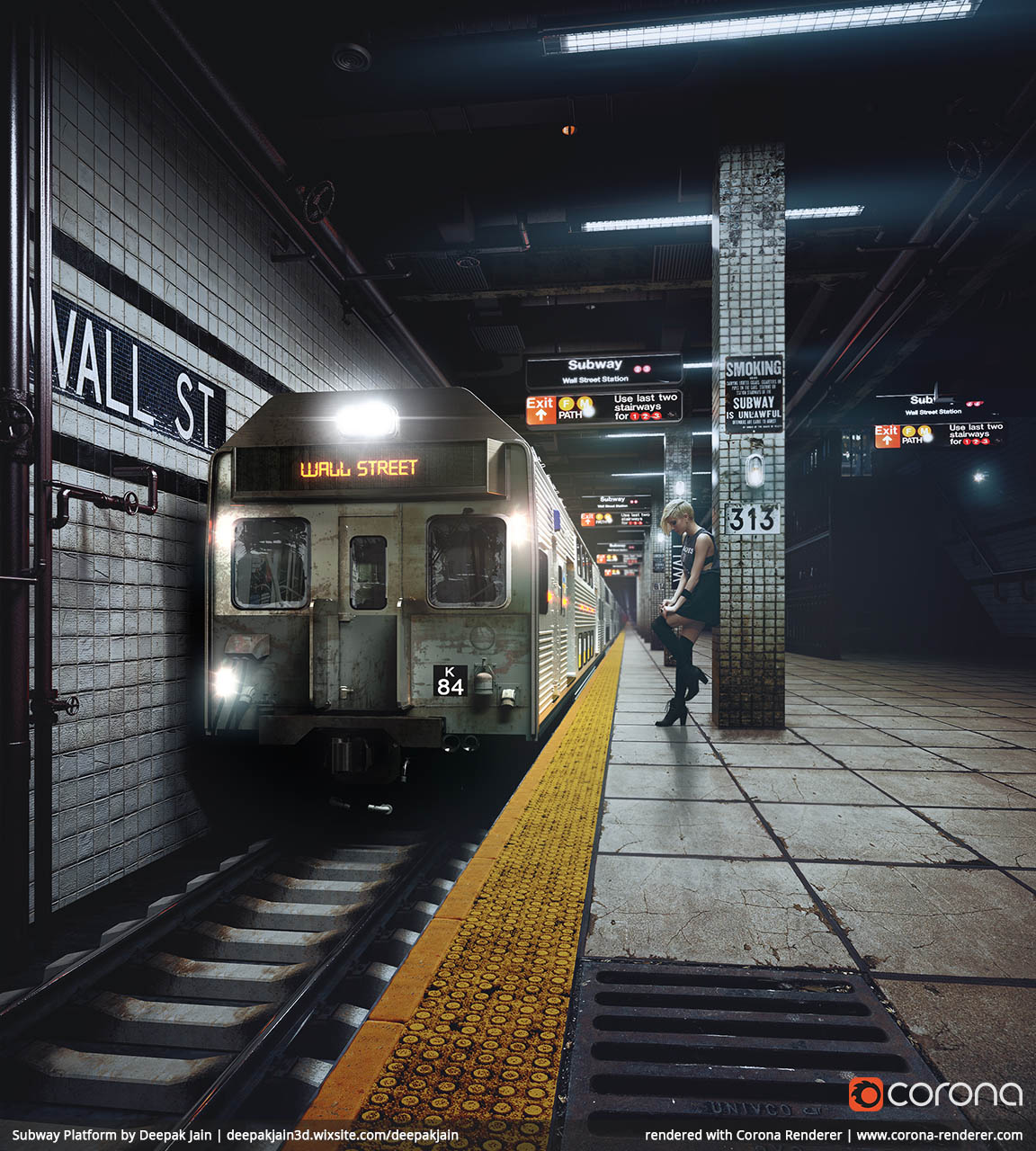 Subway Platform by Deepak Jain