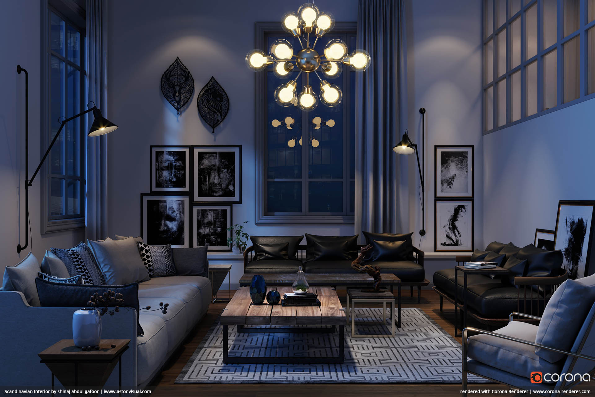 Scandinavian Interior 02 by shinaj abdul gafoor