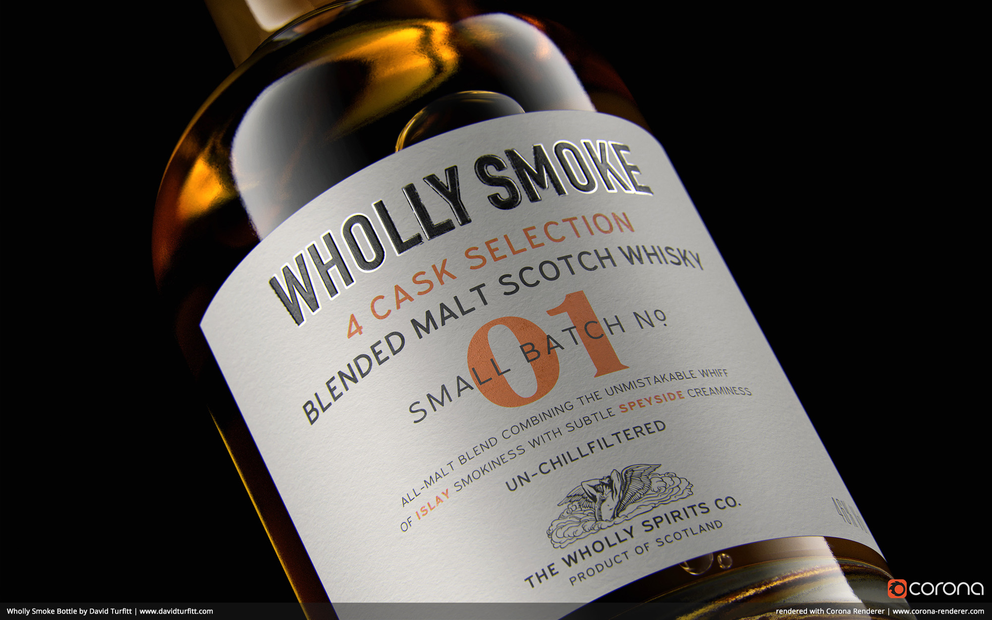 Wholly Smoke Bottle by David Turfitt