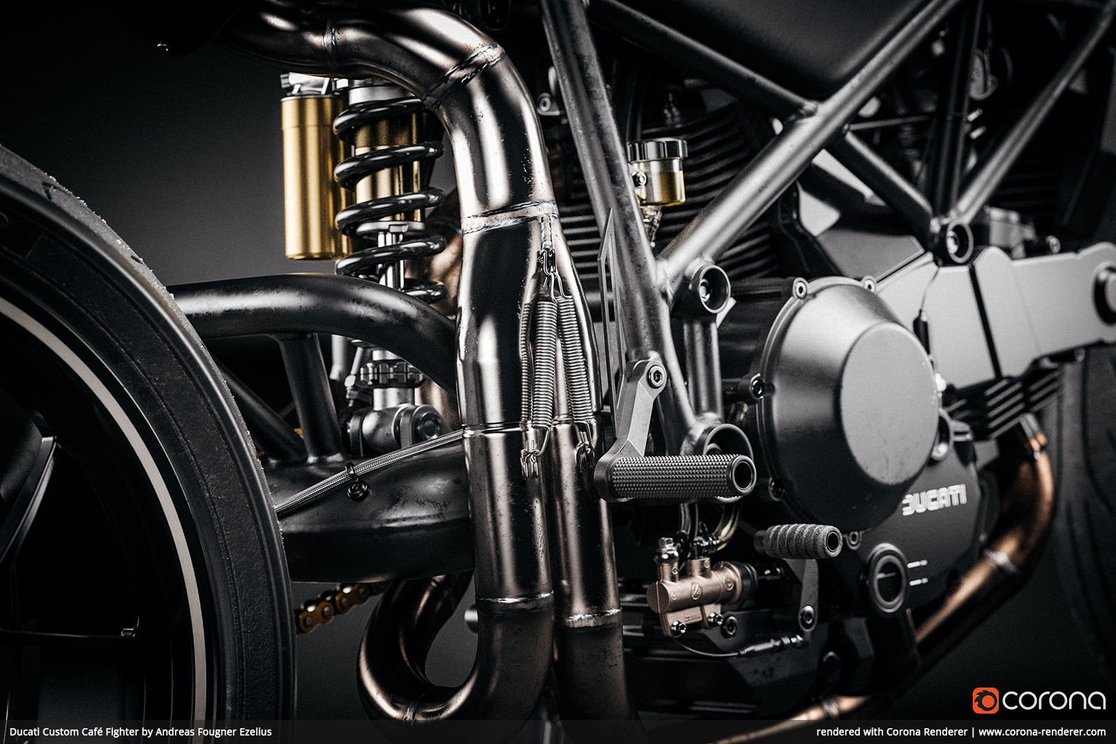 Ducati Custom Café Fighter by Andreas Fougner Ezelius