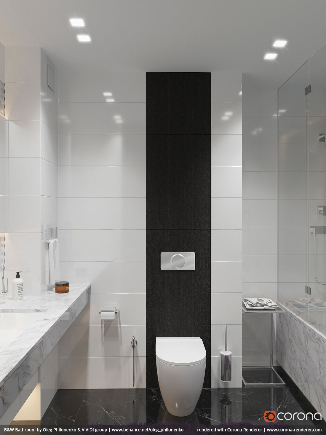 B&W Bathroom 05 by Oleg Philonenko & VIVIDI group