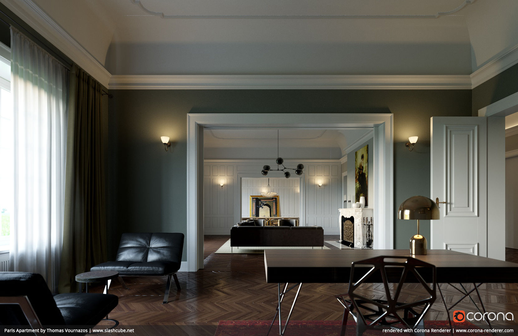Paris Apartment 02 by Thomas Vournazos