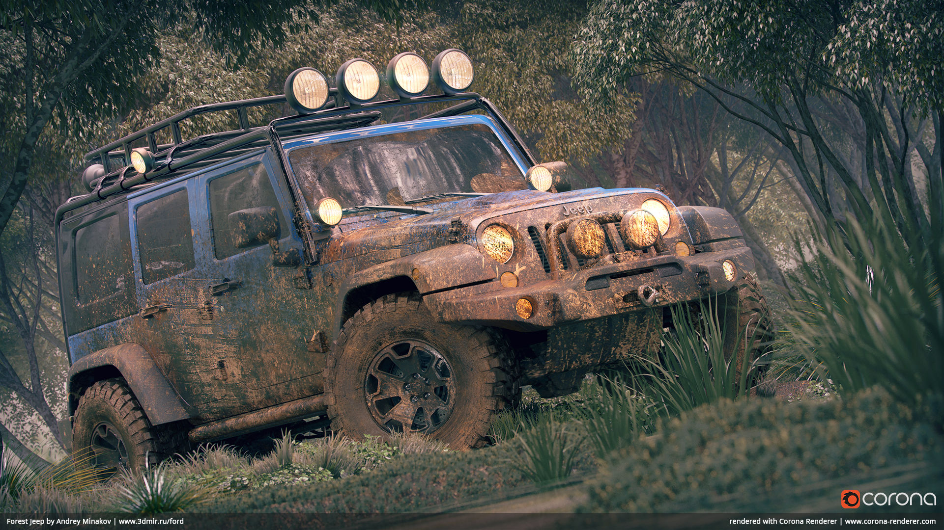 Forest Jeep by Andrey Minakov