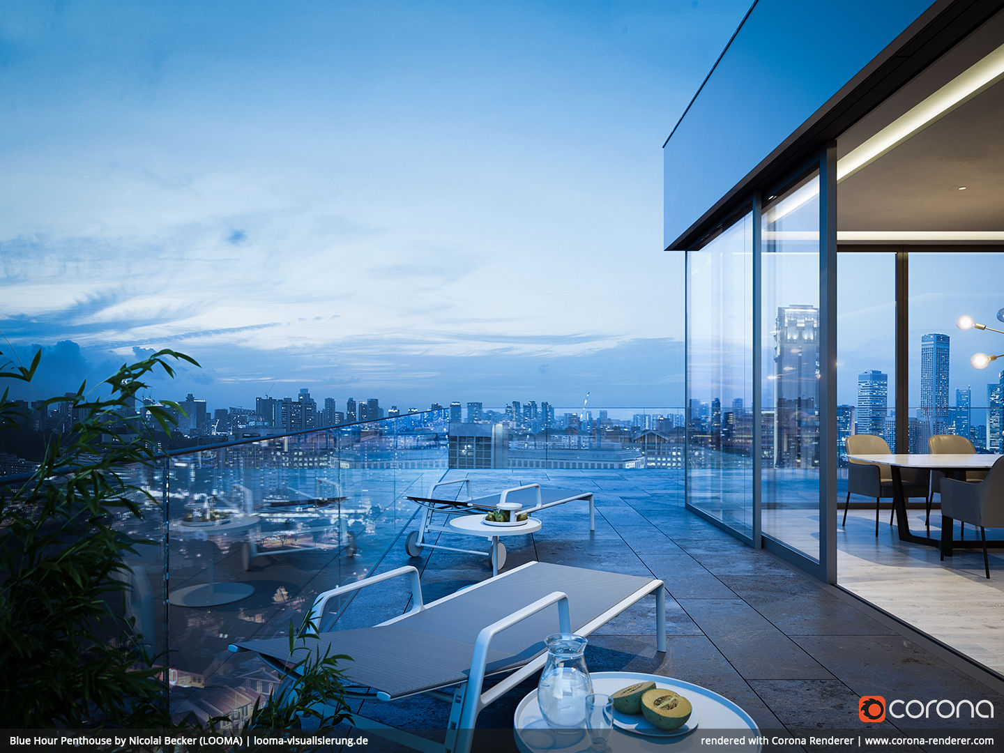 Blue Hour Penthouse 02 by Nicolai Becker (LOOMA)