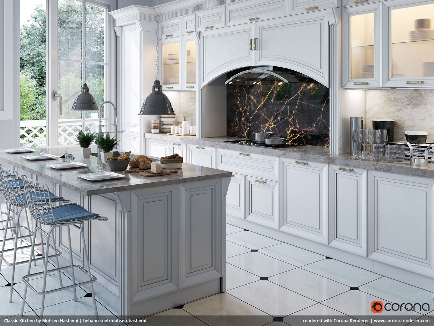 Classic Kitchen 04 by Mohsen Hashemi