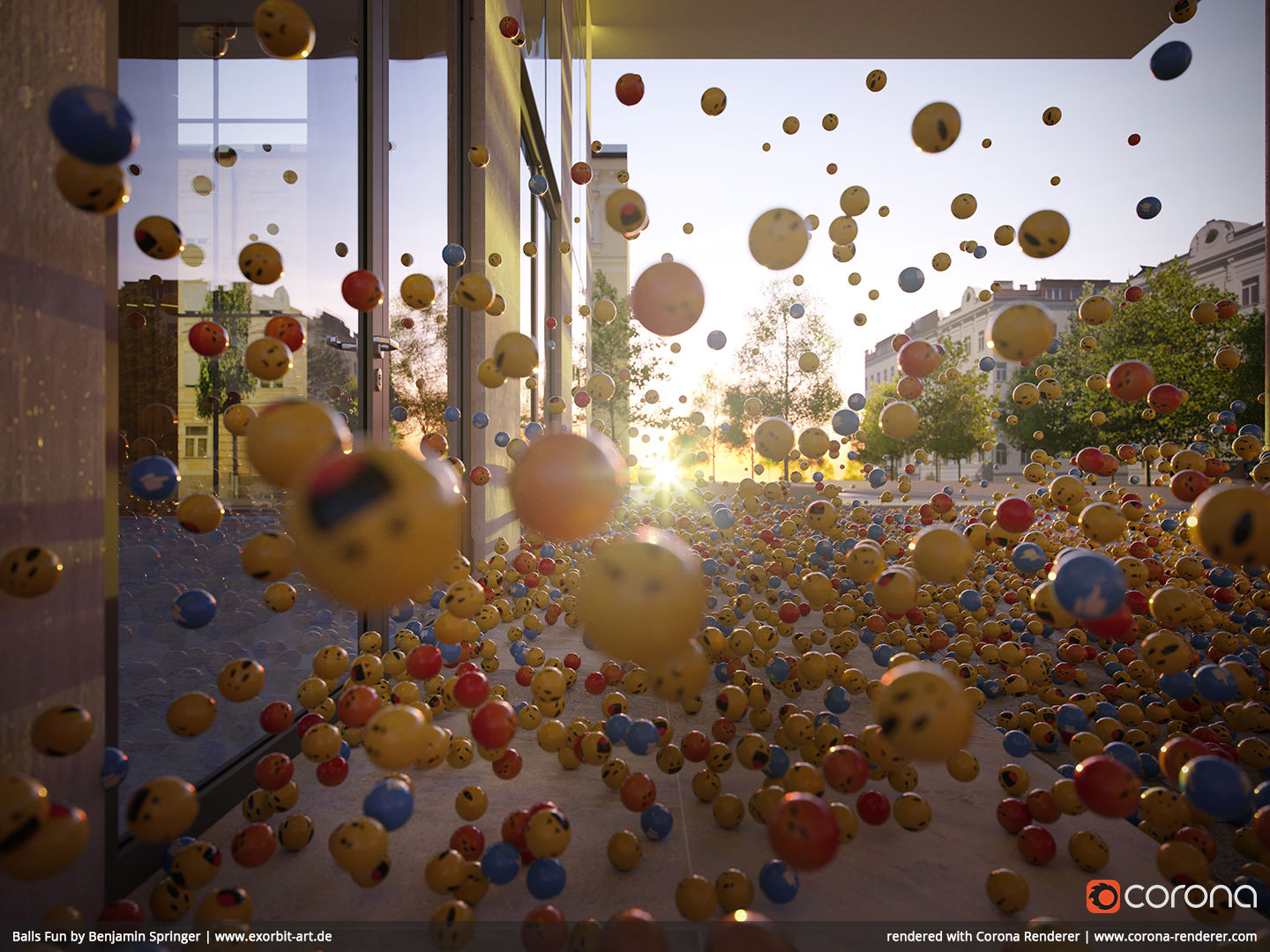Balls Fun by Benjamin Springer, EXORBITART - Cinema 4D
