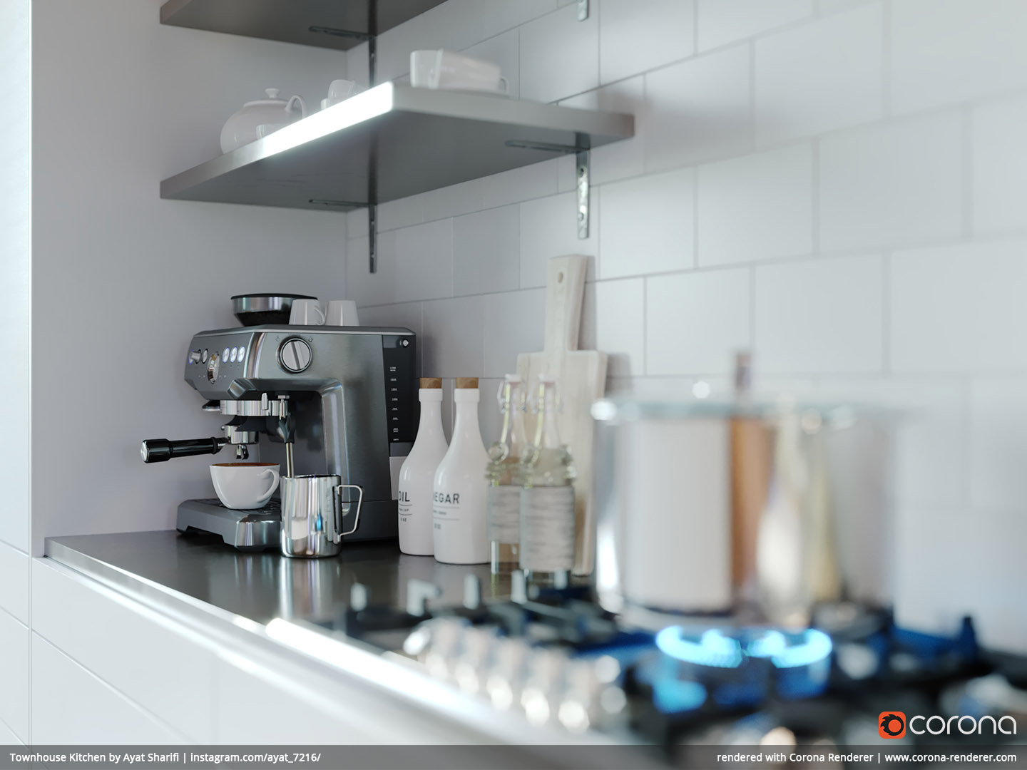 Townhouse Kitchen 03 by Ayat Sharifi