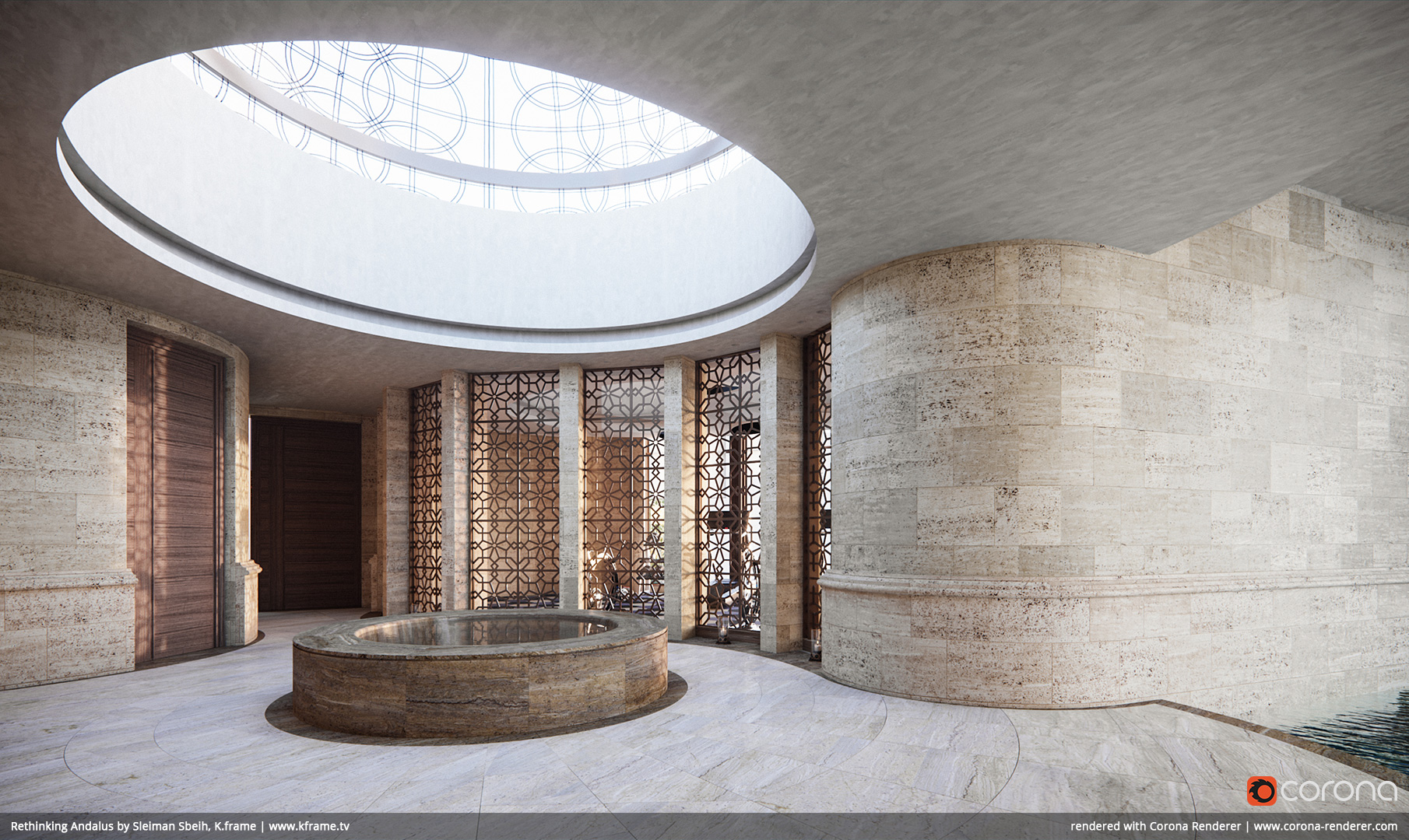 Rethinking Andalus, Spa by Sleiman Sbeih, K.frame