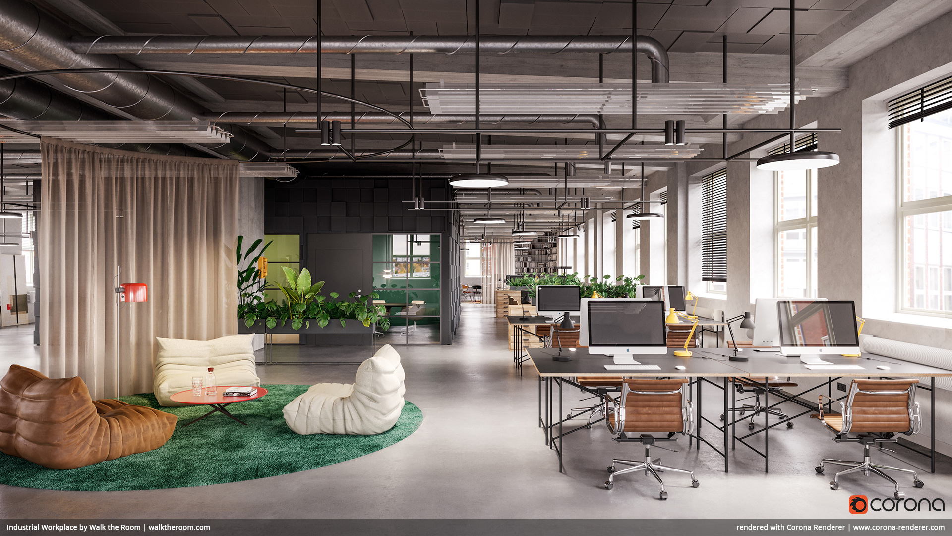 Industrial Workplace by Walk the Room